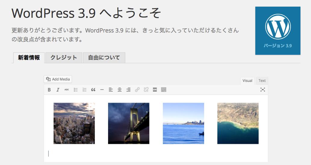 【雑記】WordPress 3.9へのアップグレードをするにあたって、初心者はなかなか慣れないという話