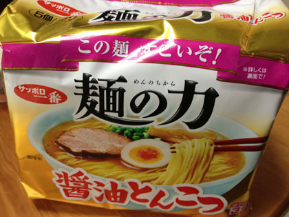 今さらですが「麺の力 醤油とんこつ」を食べてみた(近くに売ってなかったもので、やっと…)