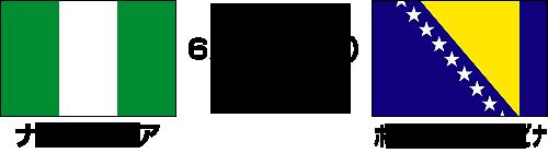2014FIFAワールドカップ ブラジル大会【グループF】ナイジェリア vs ボスニア・ヘルツェゴビナ テレビ観戦記(2014.6.22)