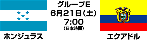 2014FIFAワールドカップ ブラジル大会【グループE】ホンジュラス vs エクアドル テレビ観戦記(2014.6.21)