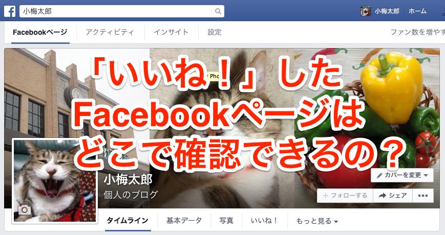 今さら聞けない、これまで「いいね!」したFacebookページはどこで確認できるの?【何となく解決】