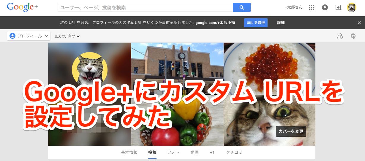 Google+に「カスタム URL」を取得して設定してみた〜URLは事前に割り当てられます