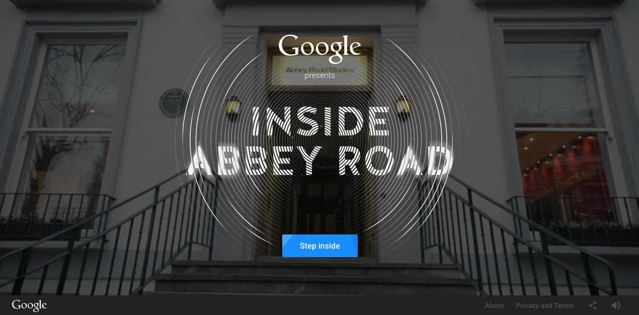 あのアビー・ロード・スタジオを体験できるサイト「Google Presents: Inside Abbey Road」をGoogleが公開