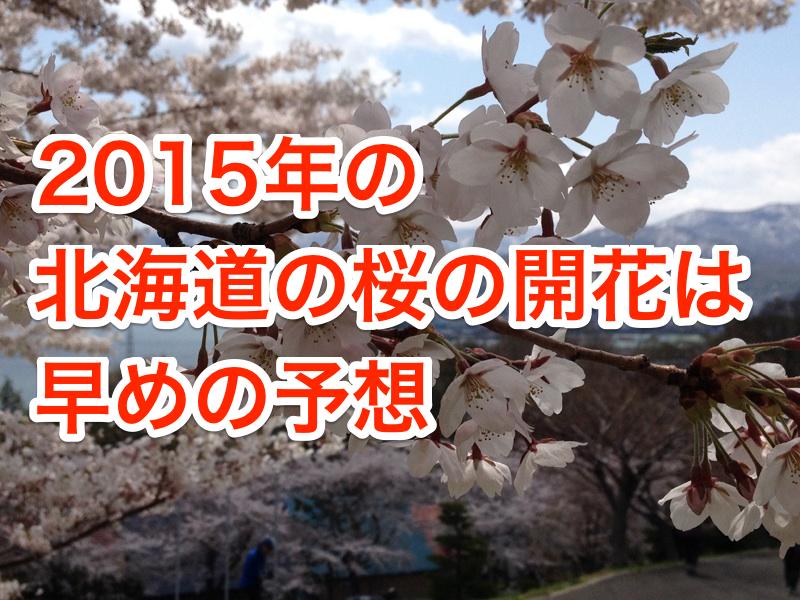 北海道の桜の開花予想が日本気象協会から発表されてます〜今年(2015年)は早めの予想です