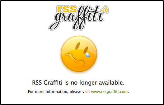 RSS Graffiti停止