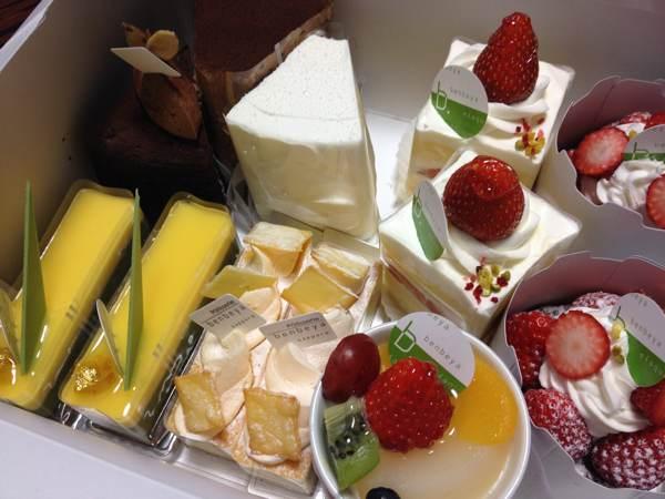 札幌のこだわりのスイーツ店「べんべや(benbeya)」の綺麗で可愛く美味しいケーキ(をお土産をいただきました)