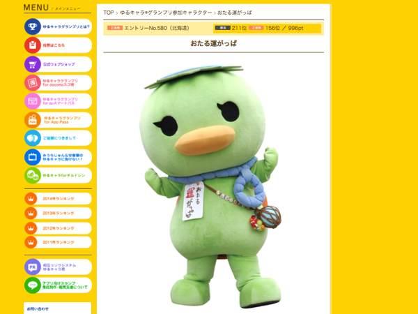「ゆるキャラグランプリ2015」投票開始〜もちろん、地元小樽の人気ご当地キャラクター「おたる運がっぱ」を応援してます!