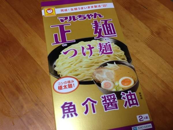 今さらですが、「マルちゃん正麺 つけ麺 魚介醤油」を食べたら本格極太麺にビックリ