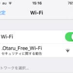 観光客で賑わう小樽の堺町通りで無料Wi-Fiの運用が始まってます
