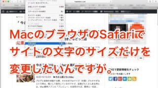 今さら聞けない、ブラウザのSafariでサイトの文字のサイズだけを変更する方法
