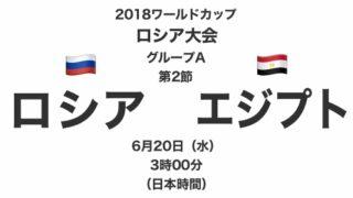 2018ワールドカップロシア大会【グループA第2節】ロシア対エジプト テレビ観戦記(2018.6.20)