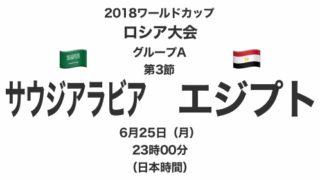 2018ワールドカップロシア大会【グループA第3節】サウジアラビア対エジプト テレビ観戦記(2018.6.25)